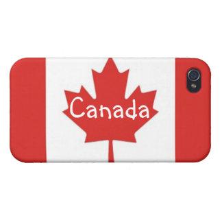 Hoja de arce canadiense Bandera-Canadá iPhone 4 Coberturas
