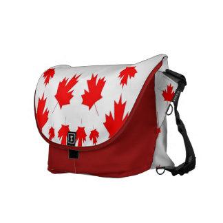 Hoja de arce canadiense bolsas de mensajería