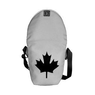 Hoja de arce canadiense bolsa de mensajeria