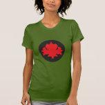 Hoja de arce canadiense camisetas