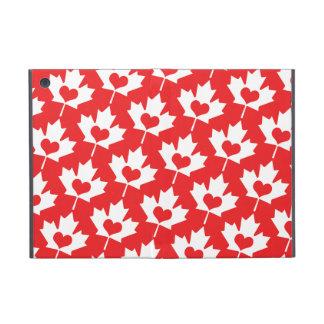 Hoja de arce canadiense clásica de la bandera con  iPad mini carcasa