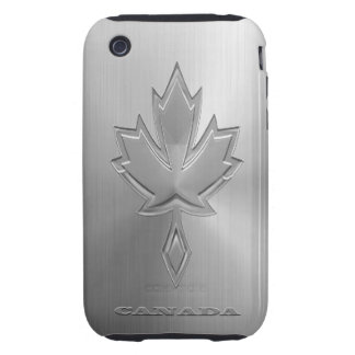 Hoja de arce canadiense de acero iPhone 3 tough protectores