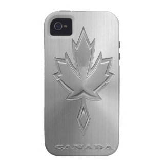 Hoja de arce canadiense de acero Case-Mate iPhone 4 carcasas