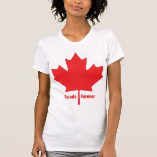 Hoja de arce canadiense del día de Canadá del patr Camiseta