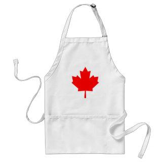 Hoja de arce canadiense delantal