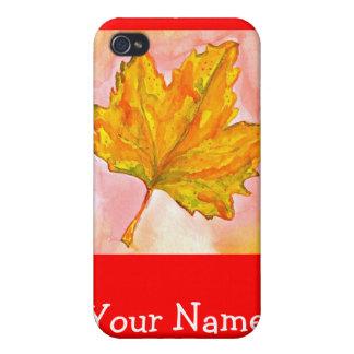 Hoja de arce canadiense iPhone 4 carcasa