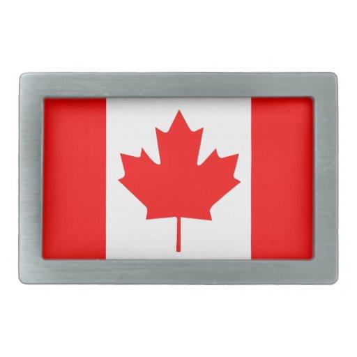 Hoja de arce canadiense hebillas cinturon rectangulares