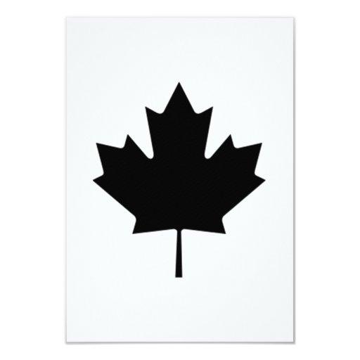 """Hoja de arce canadiense invitación 3.5"""" x 5"""""""