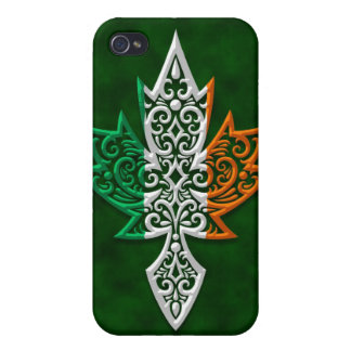 Hoja de arce canadiense irlandesa iPhone 4/4S funda