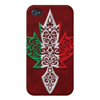 Hoja de arce canadiense italiana iPhone 4 funda