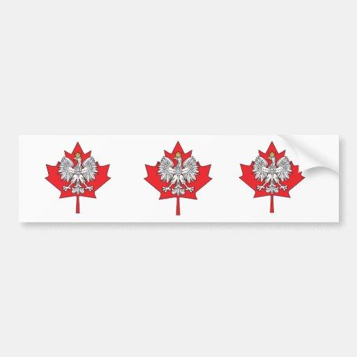 Hoja de arce canadiense polaca pegatina para auto