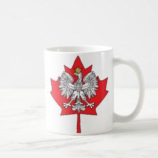 Hoja de arce canadiense polaca taza
