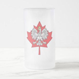 Hoja de arce canadiense polaca taza de café