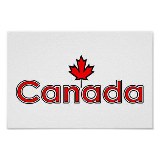 Hoja de arce canadiense póster
