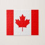 Hoja de arce canadiense puzzles