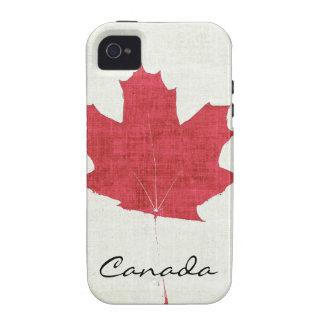 hoja de arce canadiense roja iPhone 4/4S funda