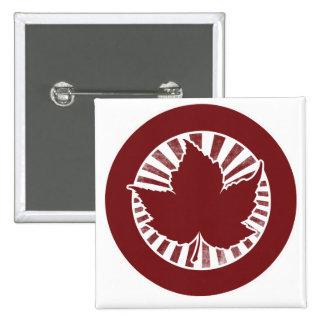 Hoja de arce canadiense roja pin cuadrado