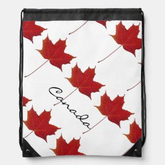 Hoja de arce canadiense roja mochila