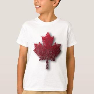 Hoja de arce canadiense roja polera
