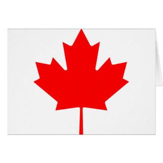 Hoja de arce canadiense tarjeta de felicitación