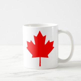 Hoja de arce canadiense taza de café
