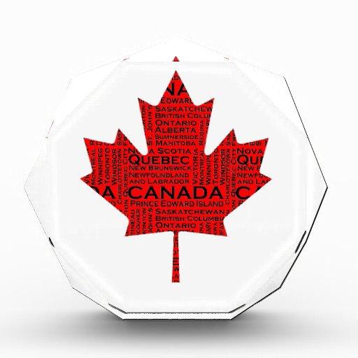 Hoja de arce canadiense w/Text