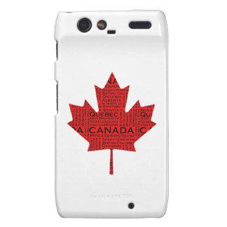 Hoja de arce canadiense w/Text Motorola Droid RAZR Carcasa