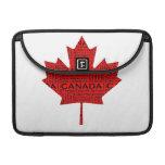 Hoja de arce canadiense w/Text Fundas Macbook Pro