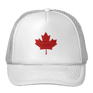 Hoja de arce canadiense w/Text Gorro