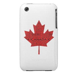 Hoja de arce canadiense w Text iPhone 3 Cobertura