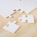 Hoja de arce canadiense w/Text Puzzle Con Fotos