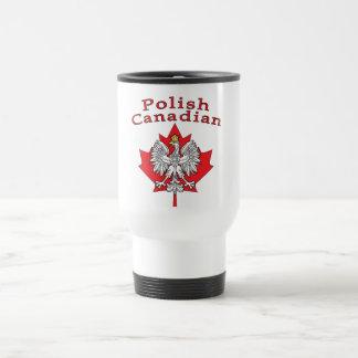 Hoja de arce con el canadiense polaco taza de viaje