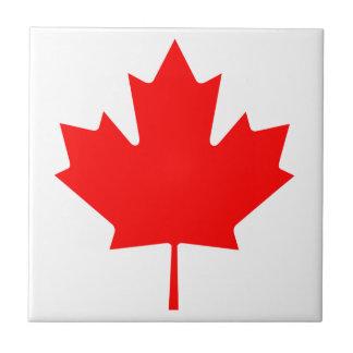 Hoja de arce de Canadá Azulejo Cuadrado Pequeño