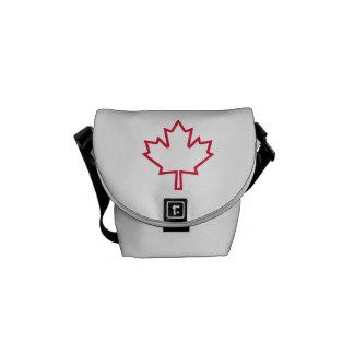 Hoja de arce de Canadá Bolsas De Mensajería