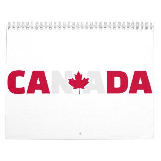 Hoja de arce de Canadá Calendario