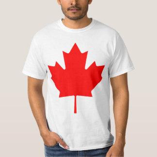 Hoja de arce de Canadá Camisas