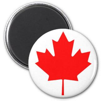 Hoja de arce de Canadá Imán Redondo 5 Cm