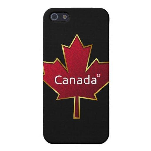 Hoja de arce de Canadá iPhone 5 Fundas