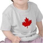 Hoja de arce de Canadá para el bebé Camisetas