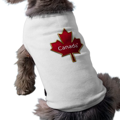 Hoja de arce de Canadá Playera Sin Mangas Para Perro