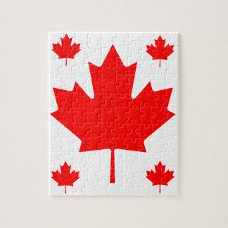 Hoja de arce de Canadá Puzzle Con Fotos