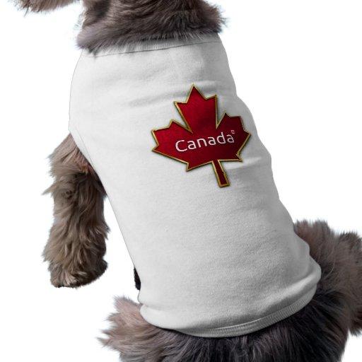 Hoja de arce de Canadá Ropa Perro