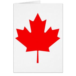 Hoja de arce de Canadá Tarjeta De Felicitación