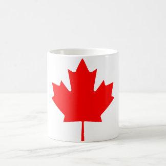 Hoja de arce de Canadá Taza
