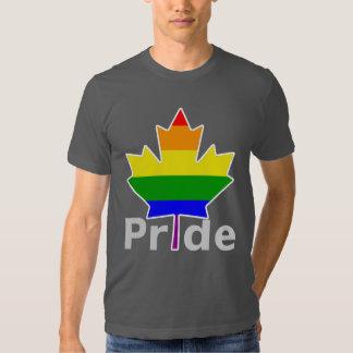Hoja de arce de la bandera del arco iris del camisas