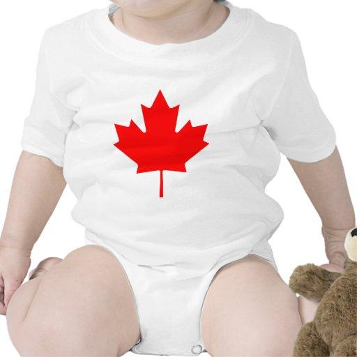Hoja de arce de la bandera trajes de bebé