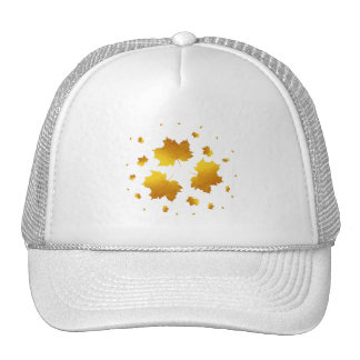 Hoja de arce de oro del reflejo gorra