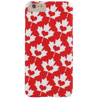 Hoja de arce del canadiense del día de Canadá Funda Barely There iPhone 6 Plus