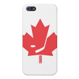 Hoja de arce del hockey de Canadá iPhone 5 Carcasas