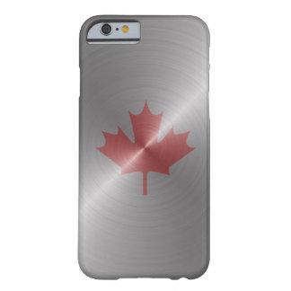 Hoja de arce del platino de Canadá Funda Para iPhone 6 Barely There